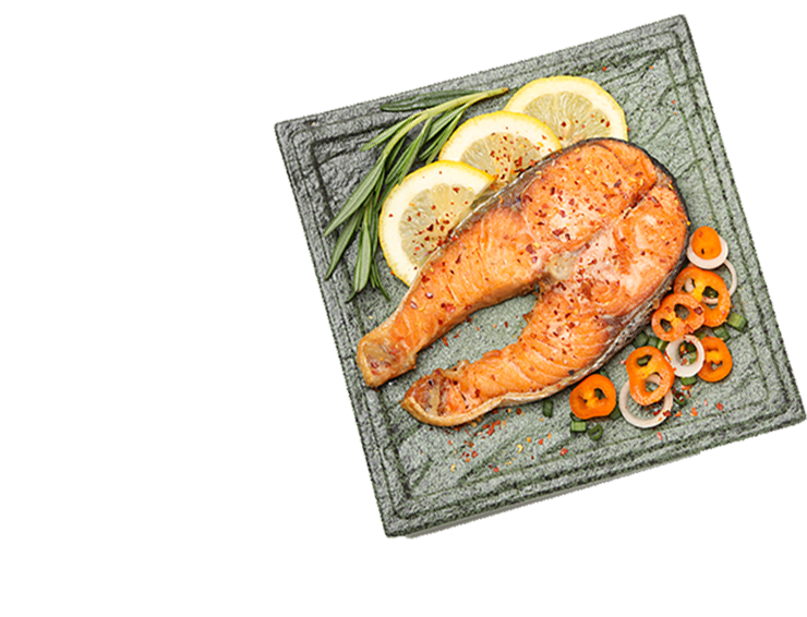 plate-with-grilled-salmon-isolated-on-white-backgr-CWM4E57 copy